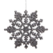 Vickerman Snowflakes Glitter Christmas Christmas Ornament (Set of 12); Pewter