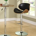 Wildon Home   Adjustable Height Bar Stool; Black
