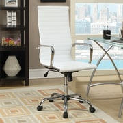 Wildon Home   High-Back Office Chair with Arms; White