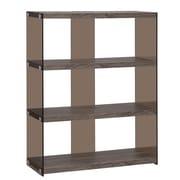 Wildon Home   44'' Accent Shelves Bookcase; Dark Grey / Smoke