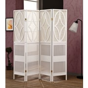 Wildon Home   70.25'' x 69.25'' 4 Panel Room Divider