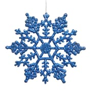 Vickerman Snowflakes Glitter Christmas Christmas Ornament (Set of 12); Blue