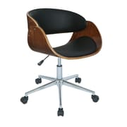 Antique Revival Monroe Mid-Back Task Chair; Black