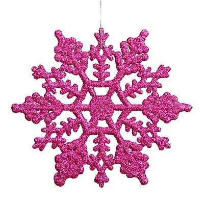 Vickerman Snowflake Glitter Christmas Ornament (Set of