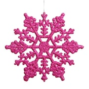 Vickerman Snowflakes Glitter Christmas Christmas Ornament (Set of 12); Magenta