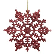 Vickerman Snowflakes Glitter Christmas Christmas Ornament (Set of 12); Burgundy