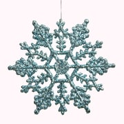 Vickerman Snowflakes Glitter Christmas Christmas Ornament (Set of 12); Baby Blue