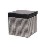 Household Essentials Square Storage Ottoman with Padded Seat