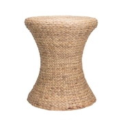 Household Essentials Hourglass Water Hyacinth Wicker Table Wicker