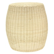Household Essentials Rattan Wicker Barrel Table