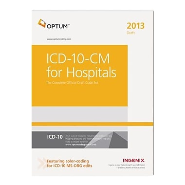 ICD-10-CM 2013 for Hospitals: The Complete Official Draft Code Set, Used Book (9781601517074)