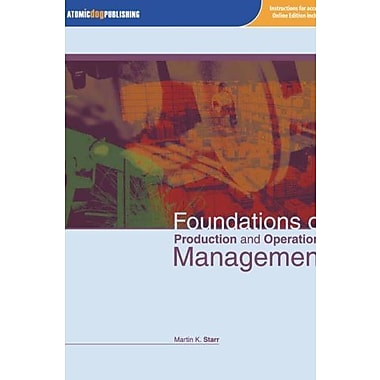 Foundations of Production and Operations Management, New Book (9781592602766)