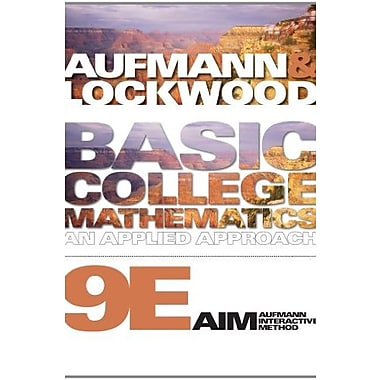 Bundle: Basic College Mathematics: An Applied Approach, 9th + Student Solutions Manual, New Book (9781111495985)