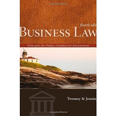 Business Law: Principles for Today's Commercial Environment, New Book (9781133588245)