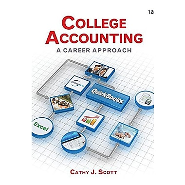 College Accounting: A Career Approach, New Book (9781305084087)