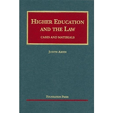 Areen's Higher Education and the Law, Cases and Materials (University Casebook Series), New Book (9781599412832)