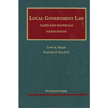 Local Government Law, Cases and Materials, New Book (9781599414201)