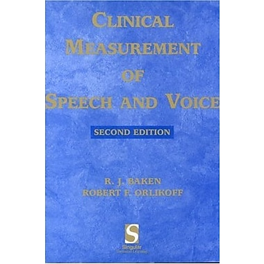 Clinical Measurement of Speech & Voice (Speech Science), Used Book (9781565938694)