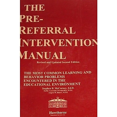 Pre-Referral Intervention Manual, Second Edition, Used Book (9781878372116)