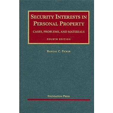 Picker's Security Interests in Personal Property, 4th, New Book (9781599416397)