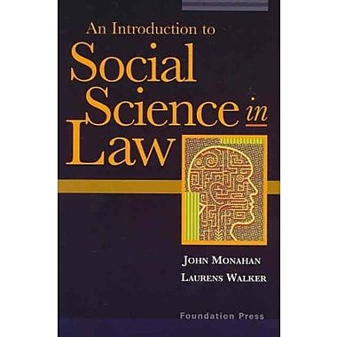 Social Science in Law (University Casebook Series), Used Book (9781587789878)