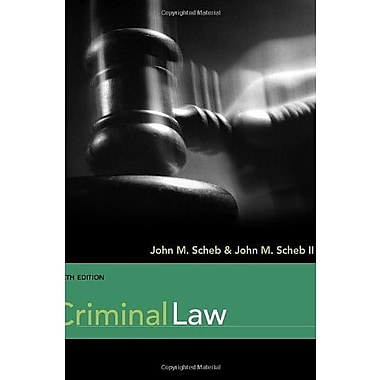 Criminal Law, Used Book (9781111346959)