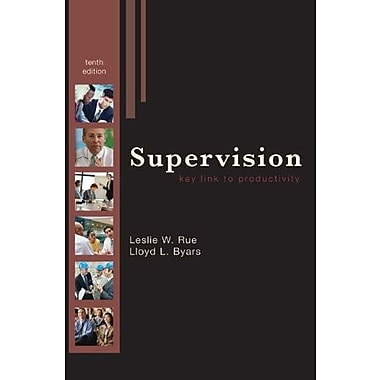 Supervision: Key Link to Productivity, New Book (9780073381374)