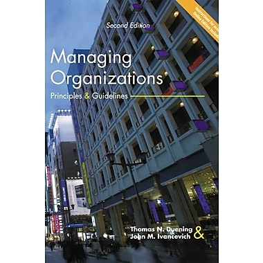 Managing Organizations: Principles & Guidelines, New Book (9781592602070)