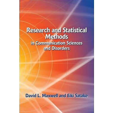 Research and Statistical Methods in Communication Sciences and Disorders, (9781401815677)