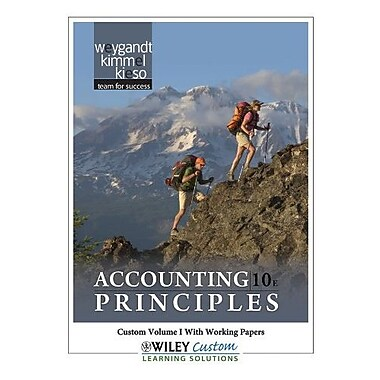 Accounting Principles 10th Edition Volume 1 for Paradise Valley Community College, New Book (9781118106020)