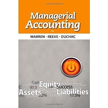 Managerial Accounting, New Book (9781133952404)