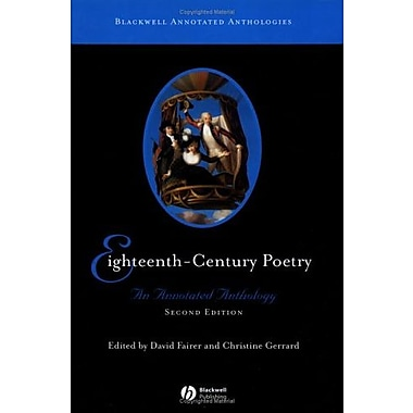 Eighteenth-Century Poetry: An Annotated Anthology (Blackwell Annotated Anthologies), Used Book (9781405113182)
