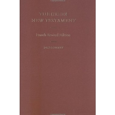 The Greek New Testament (Includes Dictionary) (Greek and English Edition), Used Book (9783438051134)