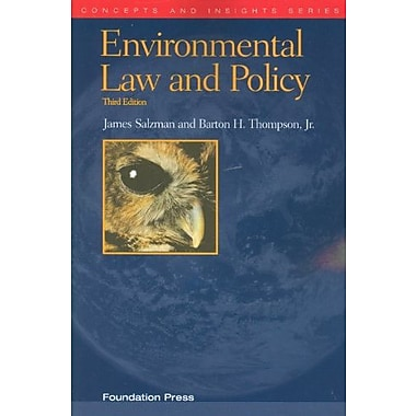 Environmental Law and Policy, 3d (Concepts & Insights) (Concepts and Insights), New Book (9781599417714)