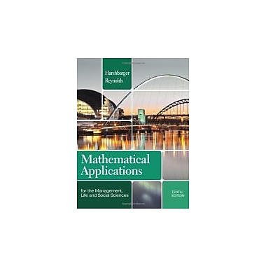 Mathematical Applications for the Management, Life, and Social Sciences, New Book (9781133106234)
