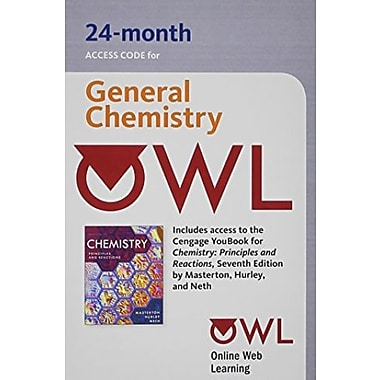 OWL 24-Months Printed Access Card for Masterton/Hurley's Chemistry: Principles and Reactions, 7th, (9781111673963)