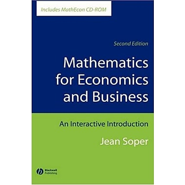 Mathematics for Economics and Business: An Interactive Introduction, Used Book (9781405111263)