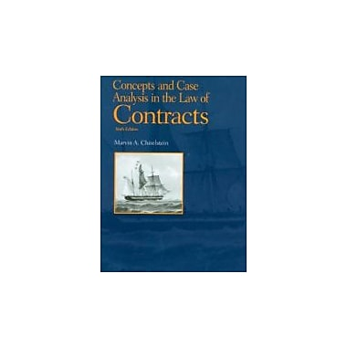 Concepts and Case Analysis in the Law of Contracts, 6th (Concepts & Insights), New Book (9781599417769)