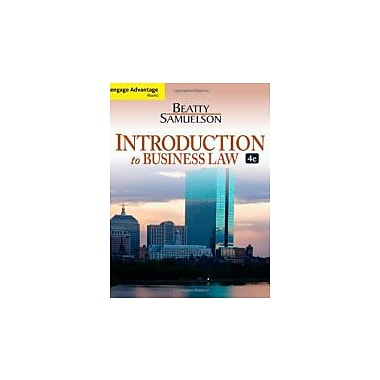 Introduction to Business Law, 4th Edition, New Book (9781133188155)