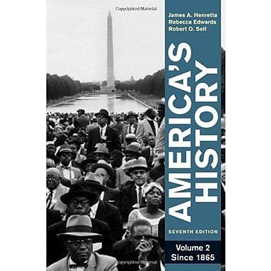 America's History, Volume 2: Since 1865, New Book (9780312387921)