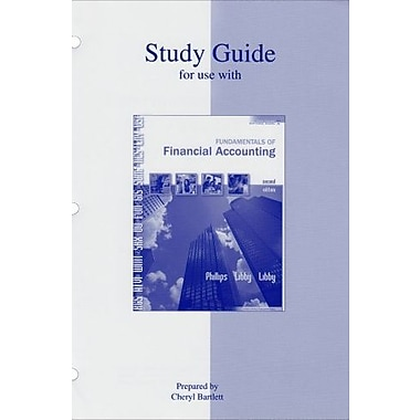Study guide for Fundamentals of Financial Accounting, New Book (9780073136585)