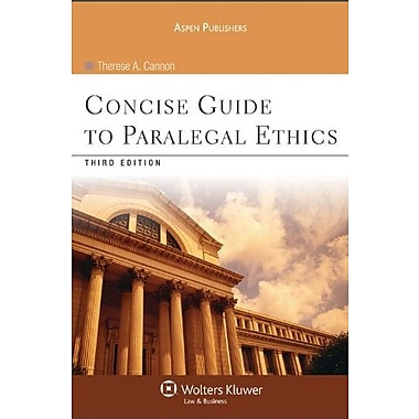 Concise Guide To Paralegal Ethics 3rd Edition, New Book (9780735578678)