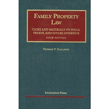 Gallanis' Family Property Law Cases and Materials, 5th, Used Book (9781599417653)
