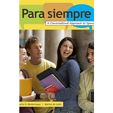 Student Activity Manual for de Leon/Montemayor's Para siempre, New Book (9780495801610)