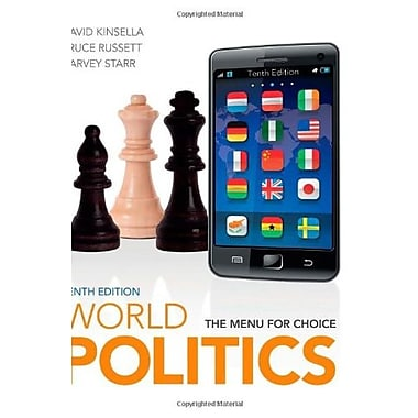 World Politics: The Menu for Choice, New Book (9781111772017)