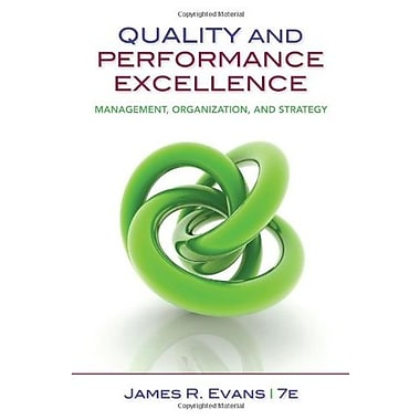 Quality & Performance Excellence, New Book (9781133955931)