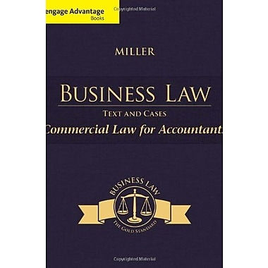 Cengage Advantage Books: Business Law: Text & Cases - Commercial Law for Accountants, Used Book (9781285770178)