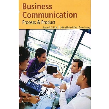 Business Communication: Process & Product, New Book (9781111776107)
