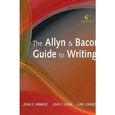 The Allyn & Bacon Guide to Writing (6th Edition), New Book (9780205721481)