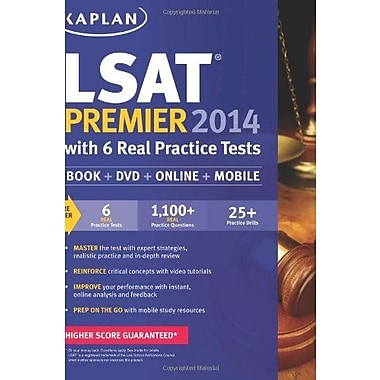 Kaplan LSAT Premier 2014 with 6 Practice Tests: Book + Online + DVD + Mobile, Used Book (9781609789183)